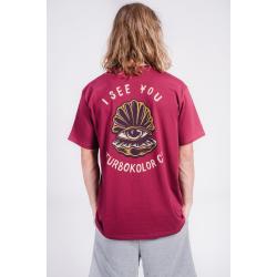 Beach Pack T-shirt See You – Burgundy SS18