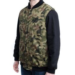 Light Varsity Jacket - Real Hard Black/Camo