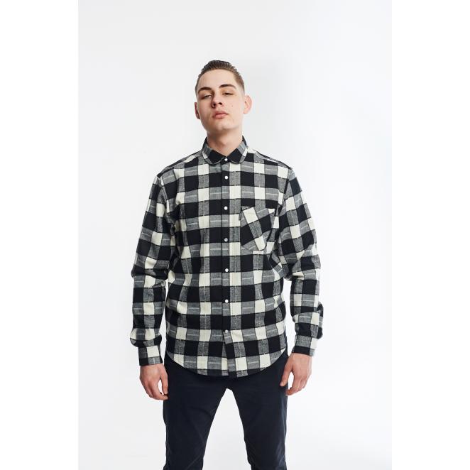 316 Shirt Grid ST – White/Black SS18